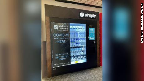 Oakland's airport is selling Covid-19 tests in vending machines