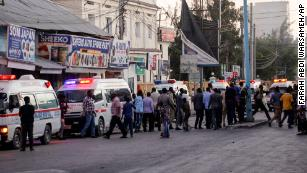 Ongoing siege following car explosion at hotel gate in Somalia's capital