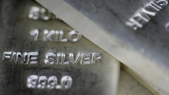 Silver bullion bars.
