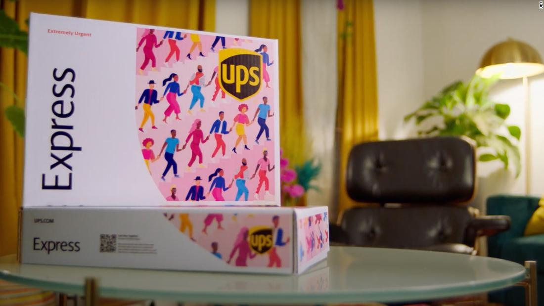 UPS gives its Express delivery boxes a Black History Month makeover1 - CNN