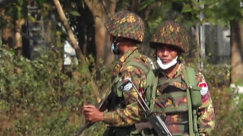 Videos from Myanmar show 'textbook example' of military coup