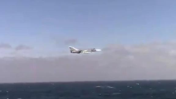 A Russian fighter jet flew low over the Black Sea on January 31 near the USS Donald Cook, a naval missile destroyer operating in the Black Sea, according to a tweet from US Naval Forces Europe-Africa/US 6th Fleet, which tweeted video of the incident.