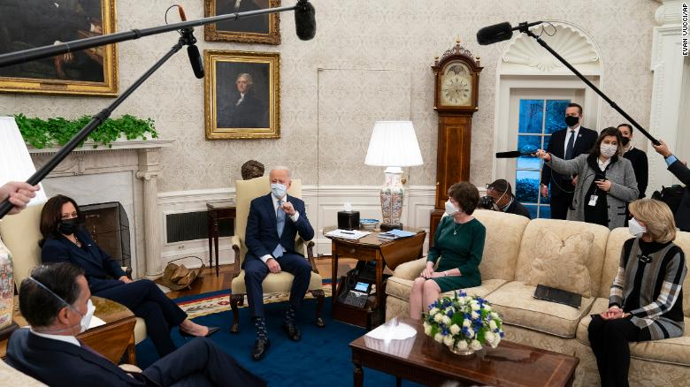 Biden leans on his Capitol Hill experience while pitching big Covid-19 relief deal