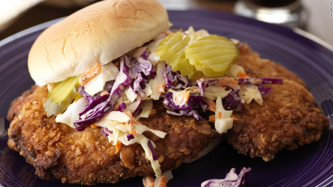 <strong>Indianapolis: </strong>The fried pork tenderloin sandwich is a Hoosier standard.