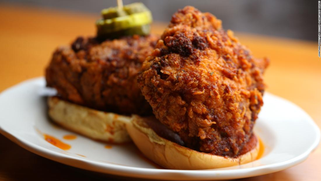 <strong>Nashville, Tennessee: </strong>The Music City turns up the heat on fried chicken, which originated in renowned Black restaurants like Hattie B's and Prince's Hot Chicken Shack.