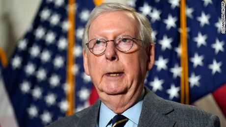 Senate Minority Leader Mitch McConnell of Ky., speaks during a news conference following a Republican policy luncheon on Capitol Hill in Washington, Tuesday, Jan. 26, 2021. (AP Photo/Susan Walsh)