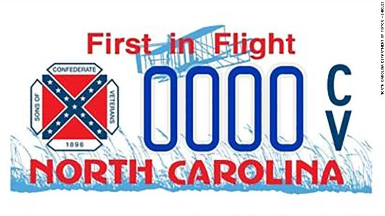 North Carolina discontinues license plates with Confederate battle flag