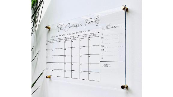 1801andco Personalized Acrylic Calendar