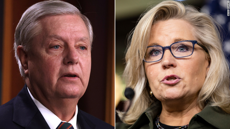 Lindsey Graham defends Liz Cheney amid attacks from Trump allies