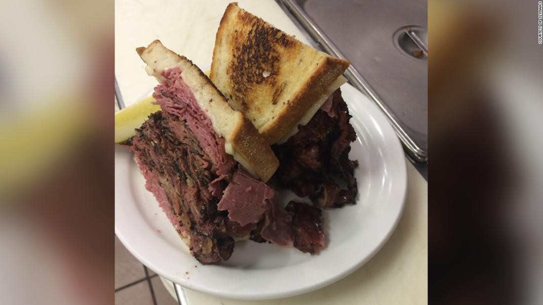 <strong>Cleveland: </strong>Slyman's corned beef is a classic, with at least 3/4 pound meat between rye bread. Add a slice of American cheese to do it like Slyman's.