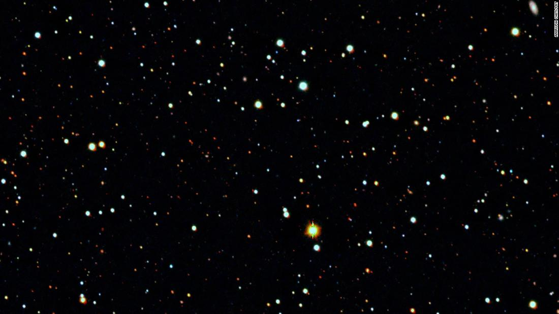 This image shows the vicinity of the Tucana II ultrafaint dwarf galaxy, captured by the SkyMapper telescope.