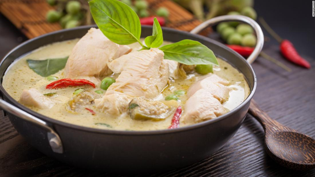 Treat yourself to Thai takeout, like this green curry with chicken, on Saturday.