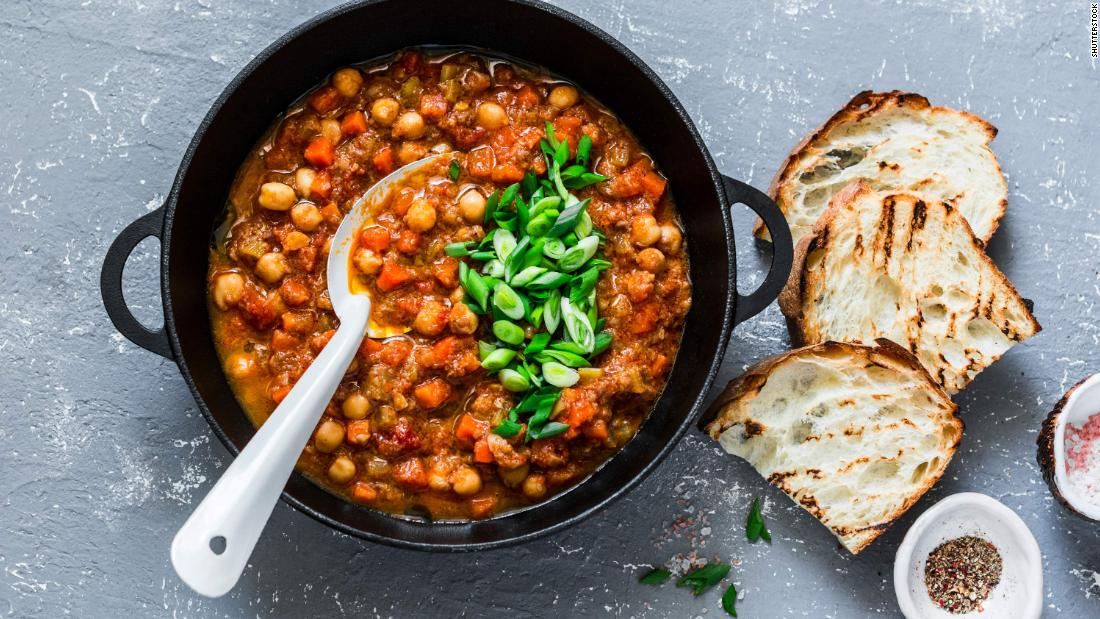 Make a vegetarian chili Wednesday. Why not try this mushroom chickpea stew?