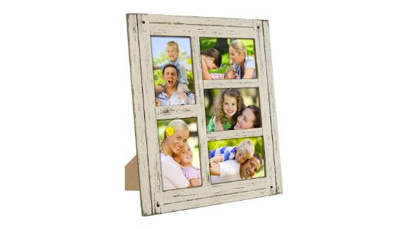 Excello Rustic Distressed Wood Collage Picture Frame