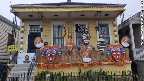 City Councilman Jay Banks decorated his home to honor the city's foremost Black Carnival club, Zulu.