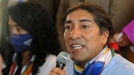 Yaku Pérez was jostling with rival Guillermo Lasso for second place in Ecuador's elections.