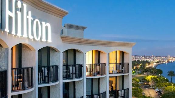 Use your points from the Hilton Amex Card's welcome bonus to stay at properties like the Hilton San Diego Airport/Harbor Island.
