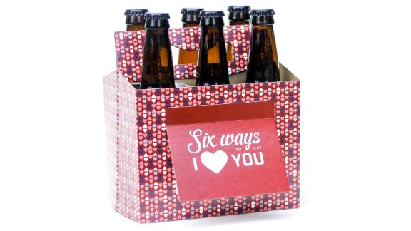 Beer Greetings Six Pack Greeting Card Box, Set of 4