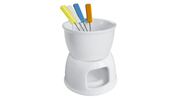 Tebery Fondue Set With 4 Color Forks