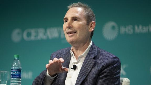 Andrew Jassy, chief executive officer of web services for Amazon.com Inc., speaks during the 2019 CERAWeek by IHS Markit conference in Houston, Texas, U.S., on Monday, March 11, 2019. The program provides comprehensive insight into the global and regional energy future by addressing key issues from markets and geopolitics to technology, project costs, energy and the environment, finance, operational excellence and cyber risks. Photographer: F. Carter Smith/Bloomberg via Getty Images
