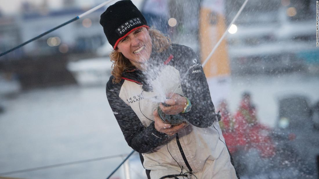 French sailor makes history in round-the-world Vendée Globe race
