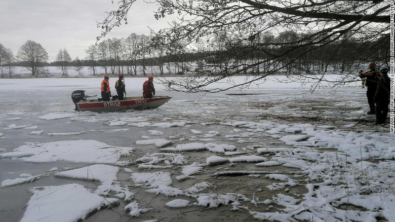 Bodies of drowned deer recovered from frozen lake after being scared by poachers