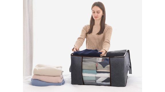 Lifewit Large Capacity Clothes Storage Bag Organizer