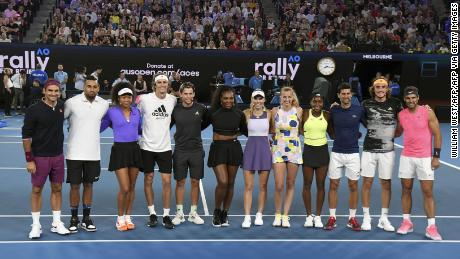 Some of tennis' biggest names came together to help raise money for relief efforts.