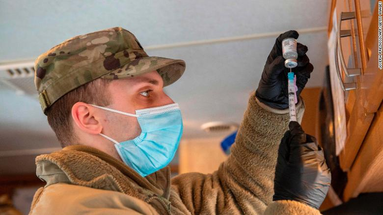 Use of troops in vaccination effort is off to a slow start