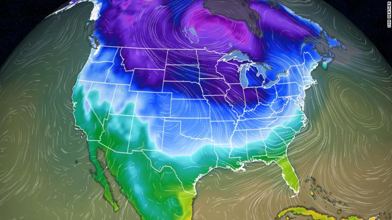 Bitter cold temperatures will heighten frostbite risk in northern US