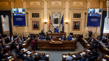 Speaker of the Virginia House of Delegates Eileen Filler-Corn (D-Fairfax) speaks during opening ceremonies of the 2020 Virginia General Assembly at the Virginia State Capitol on January 8, 2020 in Richmond, Virginia.