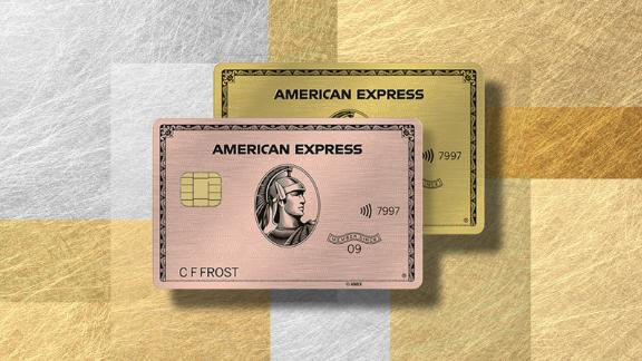 Get the American Express Gold card with either the Gold or Rose Gold design.