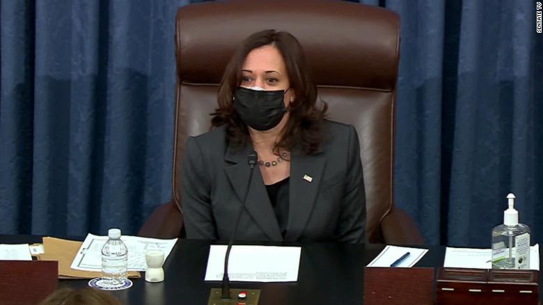 Harris flexes power as Senate tiebreaker