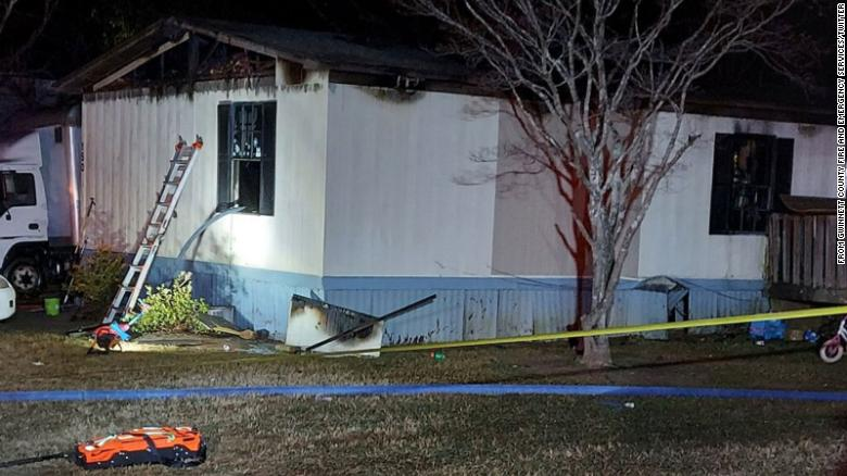 Four family members, including three children, killed in fire in Georgia