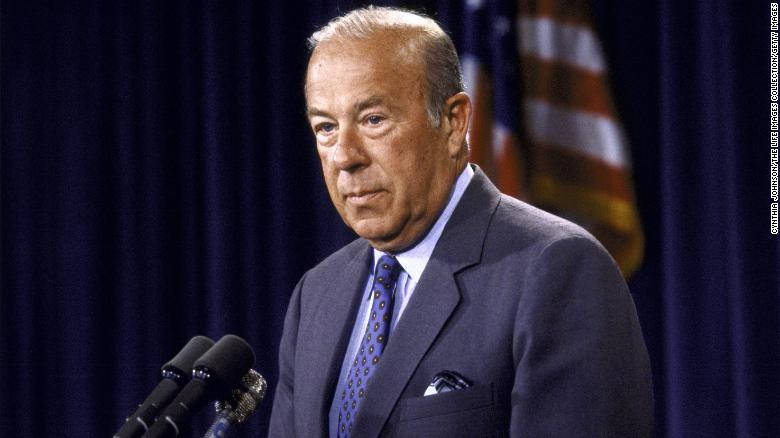 """<a href=""""https://www.cnn.com/2021/02/07/politics/george-shultz-former-secretary-of-state-dead/index.html"""" target=""""_blank"""">George P. Shultz,</a> who played a central role in helping to bring the Cold War to an end as President Ronald Reagan's secretary of state, died February 6 at the age of 100, according to the Hoover Institution at Stanford University where he worked for over 30 years."""
