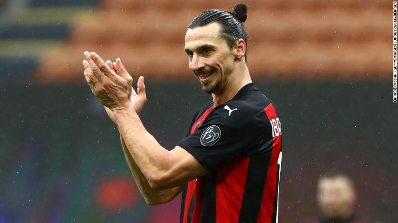 Still going strong at 39, Zlatan Ibrahimovic scores 500th goal of club career in AC Milan victory