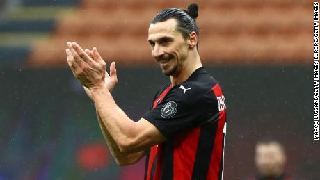Zlatan Ibrahimovic has guided AC Milan to the top of the Serie A standings.