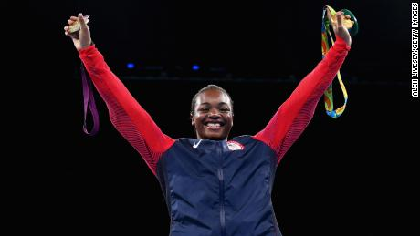 In her glittering amateur career, Shields won two Olympic gold medals -- here at Rio 2016.