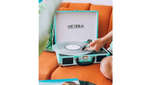 Victrola Vintage 3 Speed Bluetooth Portable Suitcase Record Player