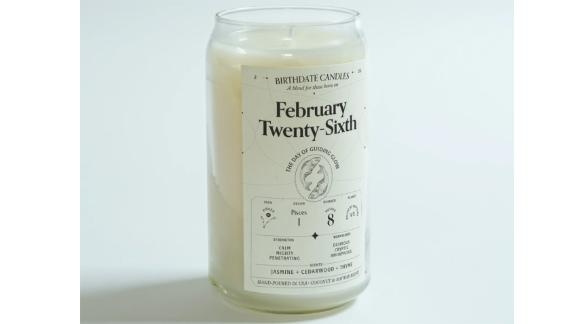 Date of birth candle