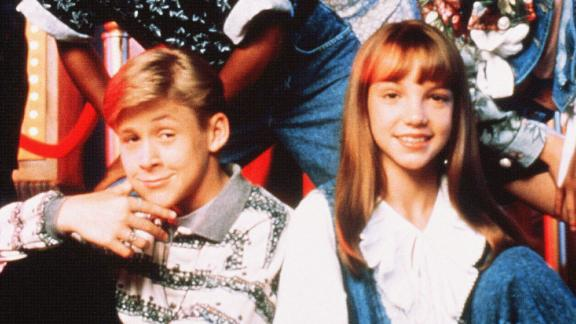 """Spears, third from right, was part of """"The Mickey Mouse Club"""" from 1993-1994. The Disney show had several cast members who have since become global superstars, including Ryan Gosling, seated next to Spears; and singers Christina Aguilera and Justin Timberlake, seen at right."""
