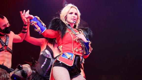 Spears performs on the opening night of her tour in 2009.