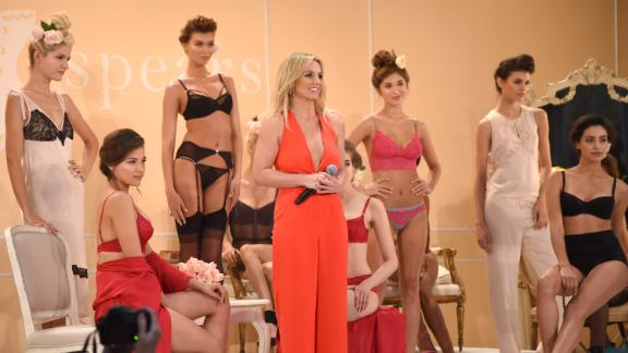 Spears unveils a line of intimate apparel in 2014.