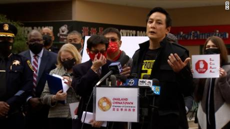Actor Daniel Wu, who grew up in the Bay Area, spoke at a news conference Monday condemning anti-Asian bias in Oakland's Chinatown.