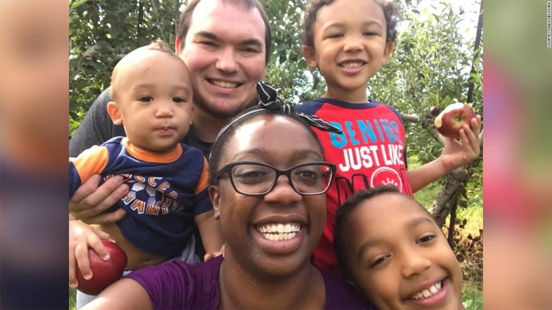 Nikki and Tyler Buskirk of Columbus, Ohio, with their three sons: Sawyer, 10; Oliver, 7; and Silas, 3.