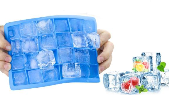 Morfone Ice Cube Trays With Lids, 3-Pack