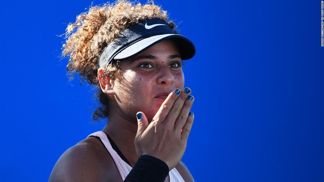 Mayar Sherif becomes first Egyptian woman to win a main draw grand slam match at the Australian Open
