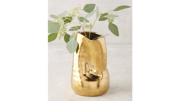Anthropologie Goldshine Vase