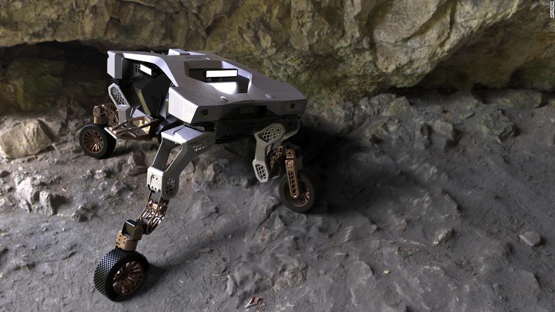 Hyundai's TIGER X-1 concept car can walk on four legs - CNN Video