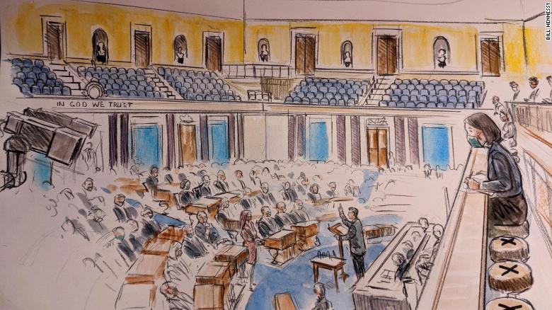 Inside the Senate chamber: Sketches from Day 1 of the impeachment trial